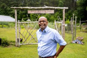 Thava Mahadevan is director of the Farm at Penny Lane and of operations at the UNC Center for Excellence in Community Mental Health. (Jon Gardiner/UNC-Chapel Hill)
