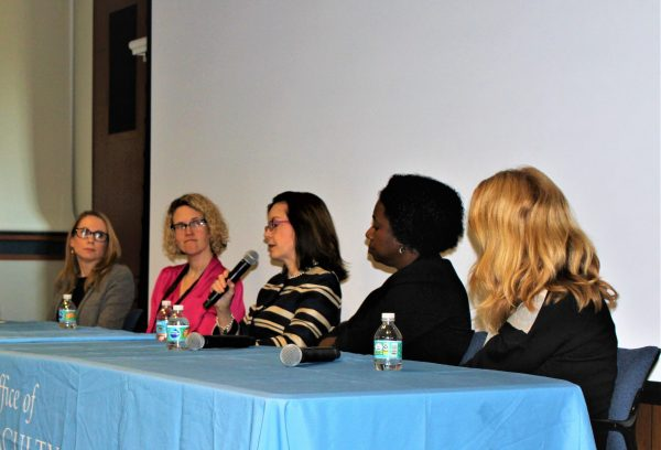 Pictured left to right: Christina Shenvi, MD, PhD; Mary Kimmel, MD; Joanne M. Jordan, MD, MPH; Michelle Floris-Moore, MD, MS; and Amy Gladfelter, PhD