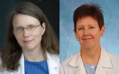 Ellen L. Jones, MD, PhD (left), and Jayne Camporeale, MS, RN