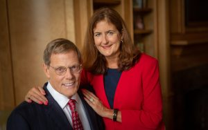 "W. G. Champion ""Champ"" and Etteinne ""ET"" Mitchell of New Bern, North Carolina, made a $10 million donation to UNC Lineberger Comprehensive Cancer Center to support ground-breaking research in blood cancer,including lymphoma, leukemia and myeloma research."