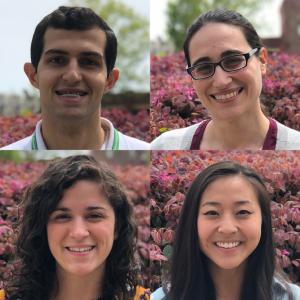 Clockwise: Yousef Abu-Salha, Nicole Damari, Susan Zhao, and Jamie Prince