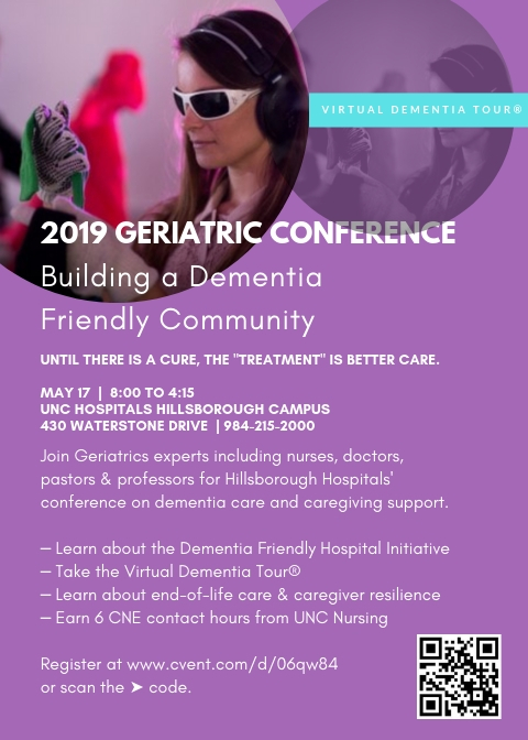"""A May 17 Hillsborough Campus conference, """"Building a Dementia Friendly Community,"""" will educate providers, caregivers, and the community on dementia-friendly training at the hospital and beyond."""