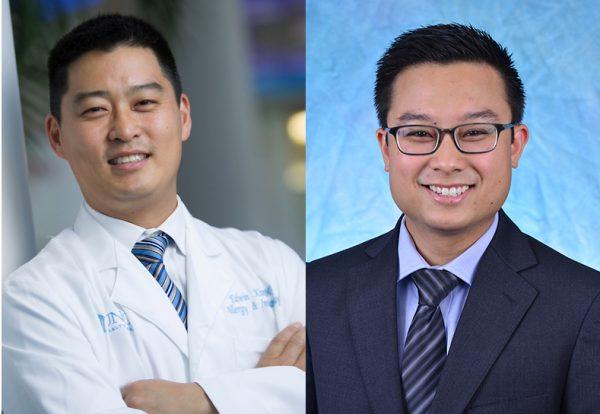 Edwin Kim, MD, (left) and Edward Iglesia, MD, MPH