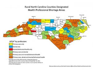 map of nc doctor shortage