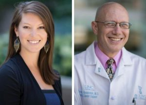 UNC Lineberger's Stephanie Wheeler, PhD, MPH, and Donald Rosenstein, MD.