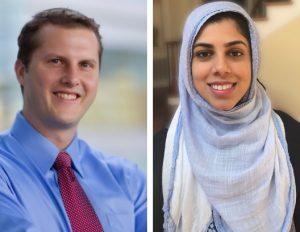 UNC Lineberger's Chad Pecot, PhD, and Salma Azam