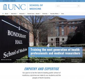 UNC School of Medicine homepage