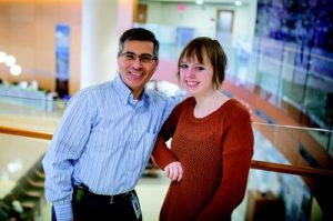 Ian Davis, MD, PhD, and Lily Newton