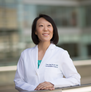 UNC Lineberger's Arlene Chung, MD, MHA, MMCi, assistant professor of medicine and pediatrics, and associate director of health and clinical informatics in the UNC School of Medicine.
