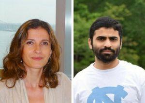 UNC Lineberger's Yuliya Pylayeva-Gupta, PhD, and Rahul Mirlekar, PhD.