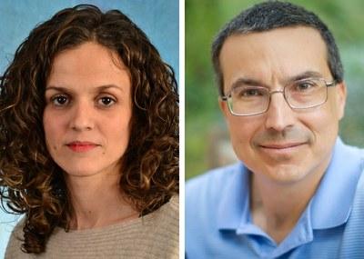 UNC Lineberger's Susana Garcia-Recio, PhD, and Charles M. Perou, PhD.