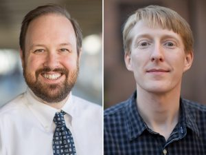 A study led by Ben Vincent, MD, (left) and Paul Armistead, MD, PhD, could aid in the development of immune-based treatments that are tailored to individual leukemia patients who are undergoing stem cell transplantation.