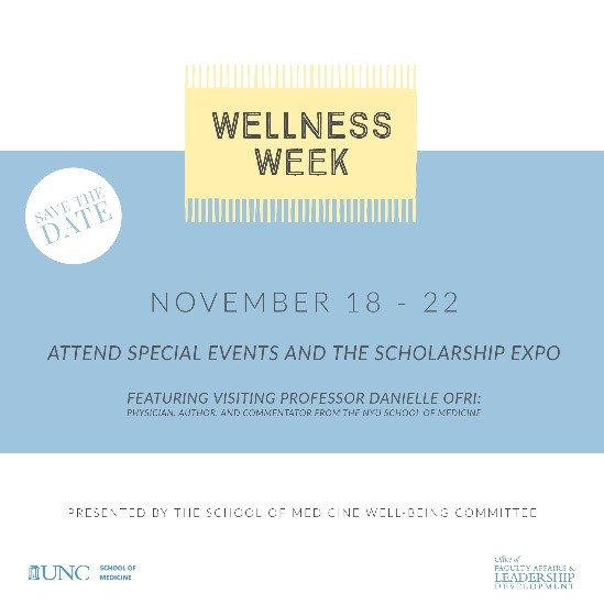 Save the date for the 2019 School of Medicine Wellness Week