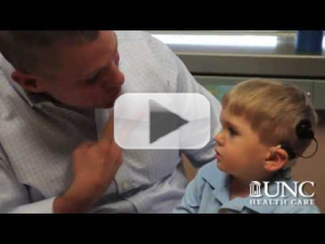 3-year-old Grayson Clamp, from Charlotte, as he hears for the very first time!