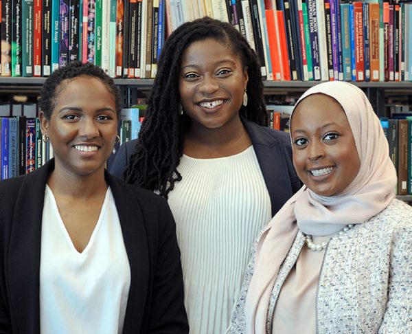 From left: UNC SNMA officers Carolei Byran, Gabrielle Nortey, and Ayesha Ibrahim.