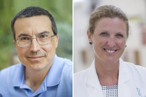 UNC Lineberger's Charles M. Perou, PhD, and Lisa A. Carey, MD.