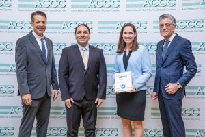 Suzanne J. Francart, PharmD, BCPS, accepted the award on behalf of UNC Hospitals.