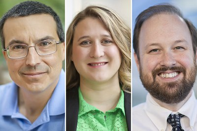 UNC Lineberger's Charles M. Perou, PhD, Katherine Hoadley, PhD, and Benjamin Vincent, MD.