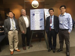 UNC Lineberger's Yue Xiong, PhD, Al Baldwin, PhD, Qing Zhang, PhD, and G. Greg Wang, PhD, were co-organizers of the center's 43rd Annual Scientific Symposium.