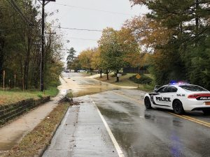 This photo of the water main break on Jones Ferry Road in Carrboro was posted on Twitter Monday by the Town of Carrboro (@CarrboroTownGov).