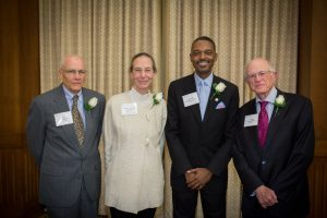 (L to R): Frederick Burroughs, Laurence Dahners, Richard Vinroot, Tim Burnett, Marcus Randall, and Sara Hoyt