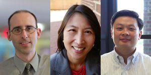 From left: Jonathan Berg, MD, PhD; Maureen Su, MD; Yisong Wan, PhD