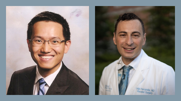 Pictured from left to right: Drs. Winston Li and Luigi Pascarella
