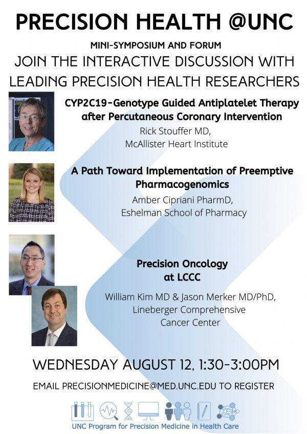 Flyer for Precision Health at UNC Mini-Symposium