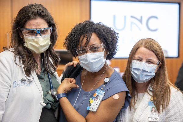 UNC Health begins giving COVID vaccines